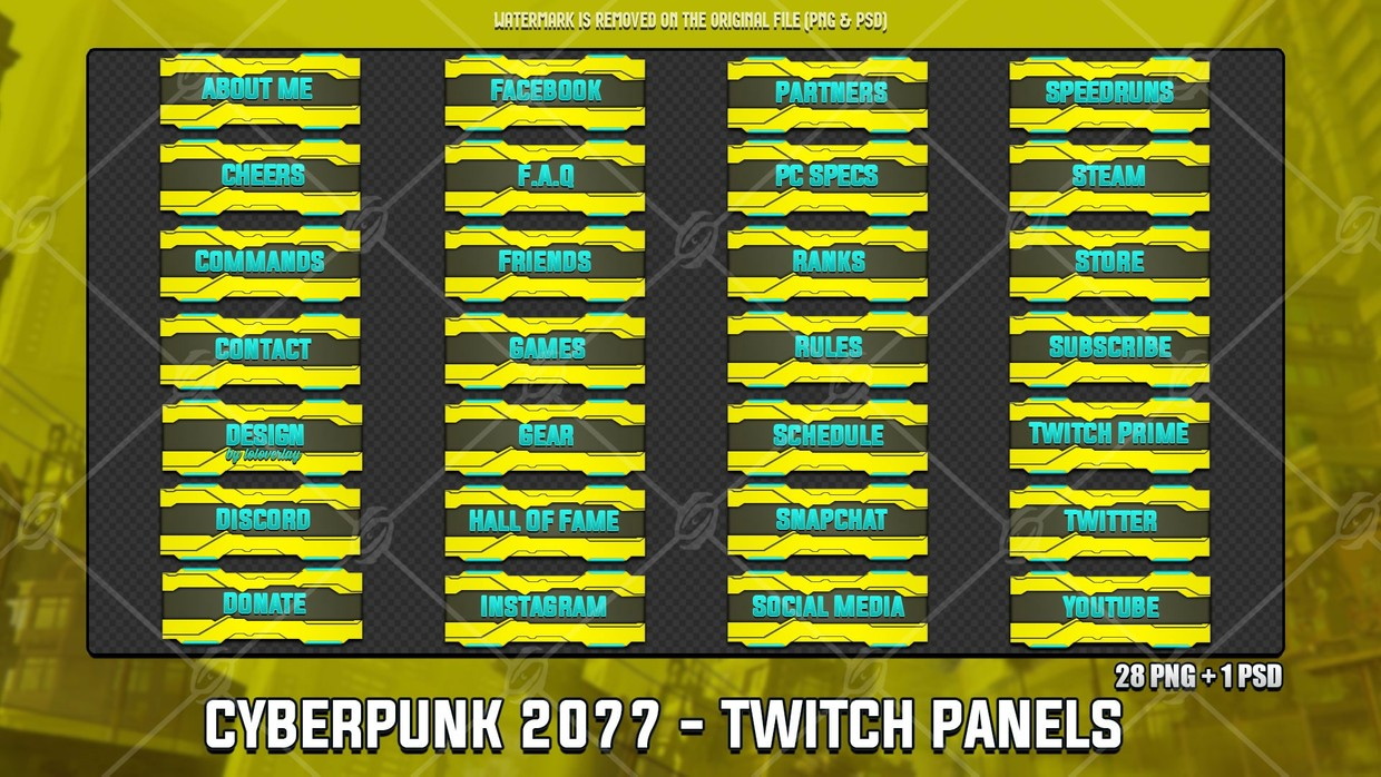 🏎️CYBERPUNK 2077 - TWITCH PANELS