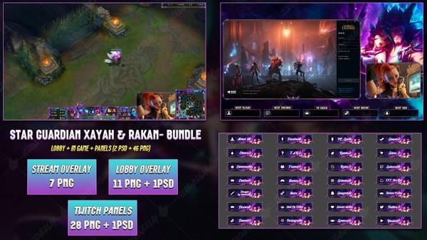 🔥 STAR GUARDIAN XAYAH & RAKAN - BUNDLE [46 PNG + 2 PSD]
