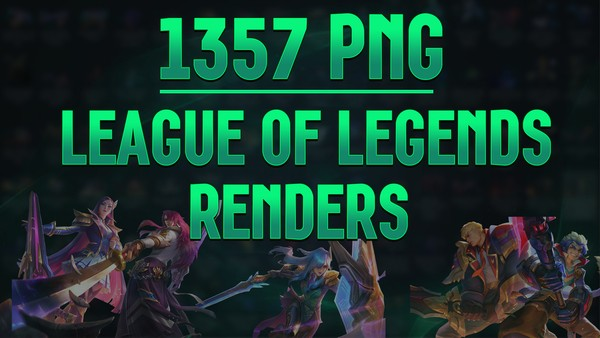 💎 LEAGUE OF LEGENDS RENDERS PACK [1357 PNG]