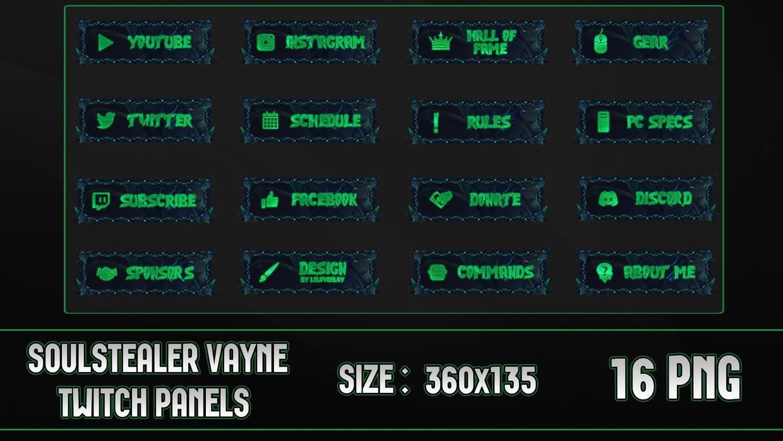 ✅SOULSTEALER  VAYNE - TWITCH PANELS