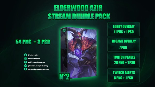 🍁🔥 ELDERWOOD AZIR - STREAM BUNDLE N°2 [54 PNG + 3 PSD]