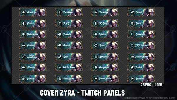 🖤COVEN ZYRA - TWITCH PANELS