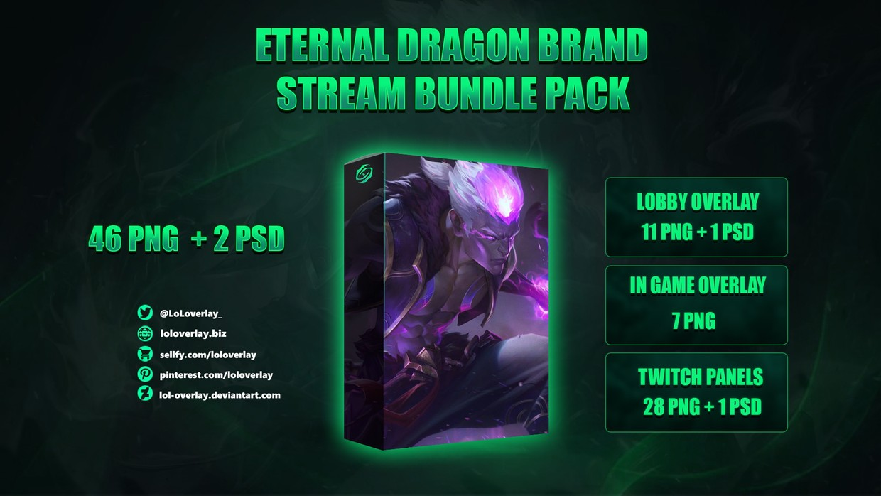 🐉ETERNAL DRAGON BRAND -  STREAM BUNDLE [46 PNG + 2 PSD]