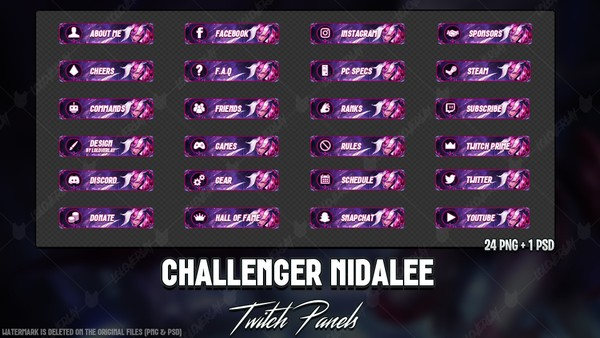 ✅CHALLENGER NIDALEE - TWITCH PANELS