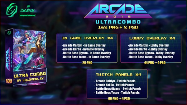 🔥ARCADE 2019 ULTRA COMBO - BIG BUNDLE  [168 PNG + 8 PSD]