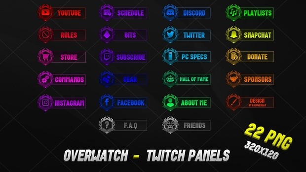 [PSD] OVERWATCH - TWITCH PANELS 2018