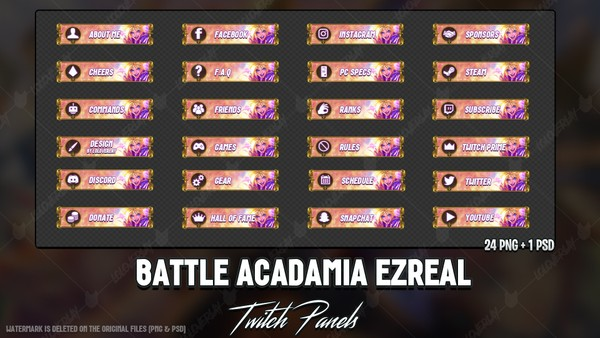 ✅BATTLE ACADAMIA EZREAL - TWITCH PANELS