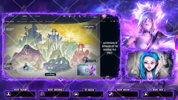 🌸🎞️ SPIRIT BLOSSOM RIVEN - ANIMATED LOBBY OVERLAY