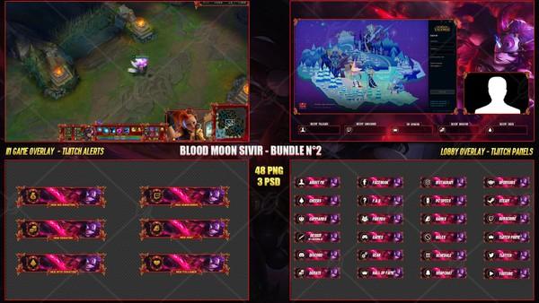 🔥 BLOOD MOON SIVIR - STREAM BUNDLE #2 [48 PNG + 3PSD]