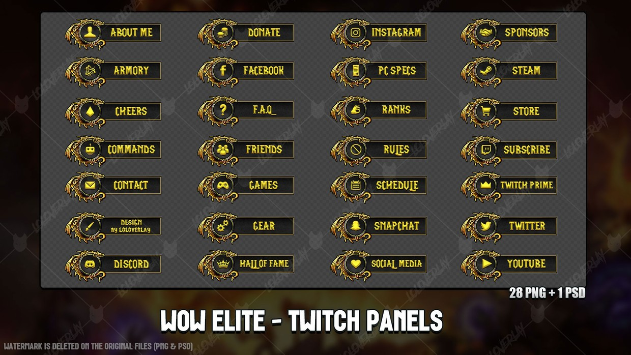 ✅ WOW CLASSIC ELITE - TWITCH PANELS