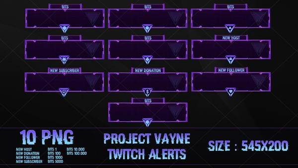 ✅PROJECT VAYNE - TWITCH ALERTS