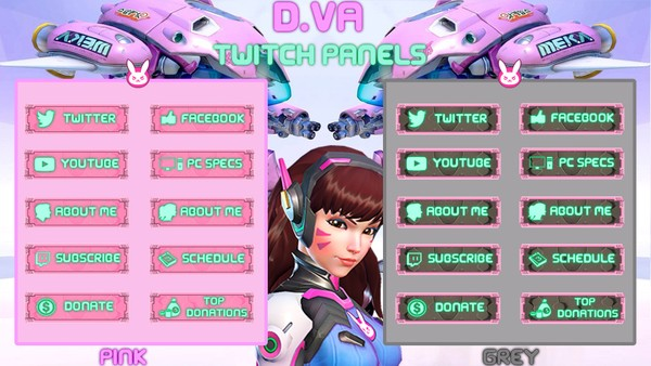 ✅D.VA - TWITCH PANELS