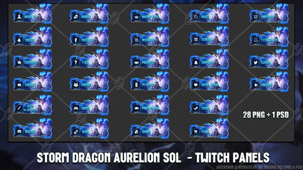 🐉 STORM DRAGON AURELION SOL - TWITCH PANELS