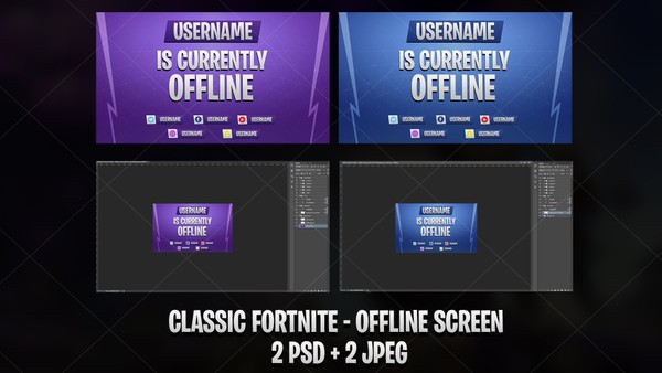✅ CLASSIC FORTNITE - OFFLINE SCREEN BLUE & PURPLE