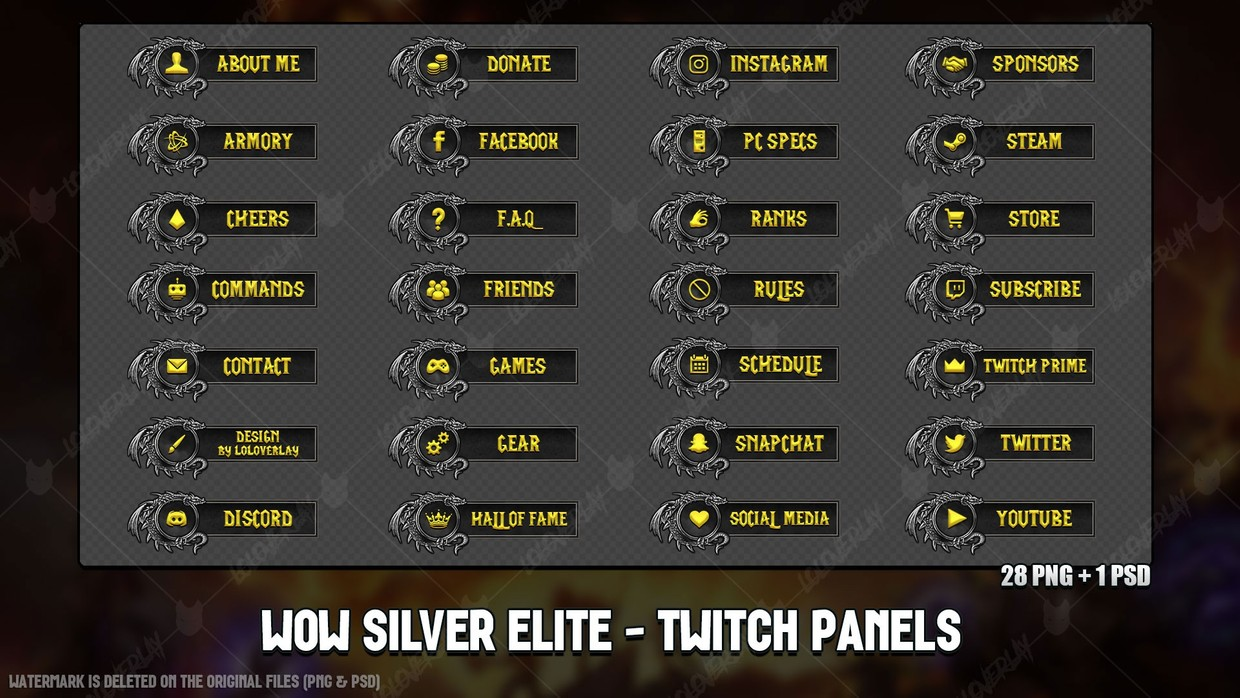 ✅ WOW CLASSIC SILVER ELITE - TWITCH PANELS