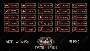 [HORDE]  WOW : BATTLE FOR AZEROTH - TWITCH PANELS