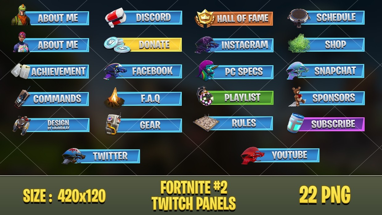 ✅ FORTNITE - TWITCH PANELS #2