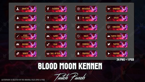 ✅ BLOOD MOON KENNEN - TWITCH PANELS