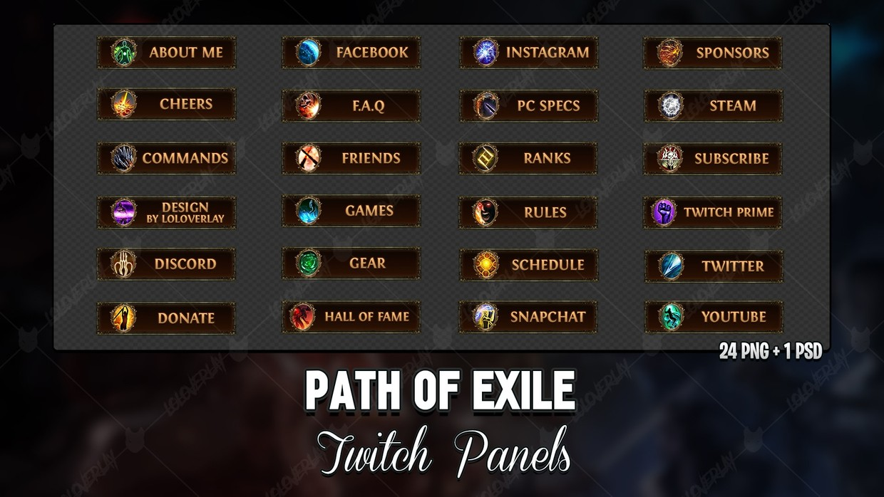 ✅ PATH OF EXILE - TWITCH PANELS