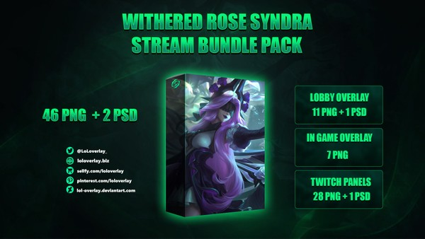 💎🥀 WITHERED ROSE SYNDRA - STREAM BUNDLE [46 PNG + 2 PSD]
