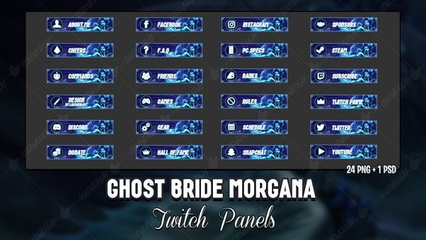 ✅ GHOST BRIDE MORGANA - TWITCH PANELS