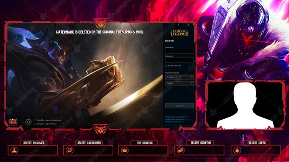Challenger Ahri Twitch Panels Loloverlay