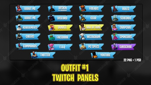 ✅ OUTFIT #1 - TWITCH PANELS