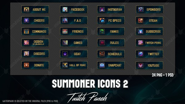 ✅ SUMMONER ICONS - TWITCH PANELS #2