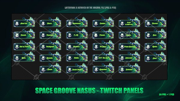 🌠SPACE GROOVE NASUS - TWITCH PANELS