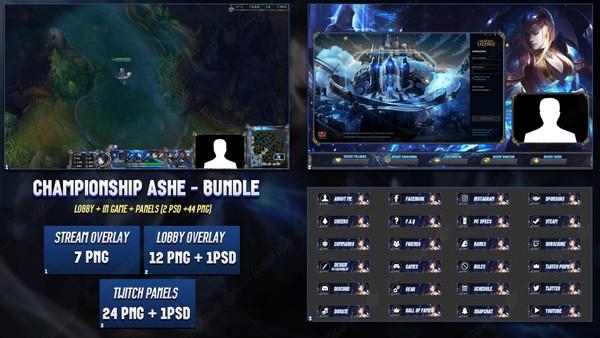 🔥 CHAMPIONSHIP ASHE - BUNDLE [44 PNG + 2 PSD]