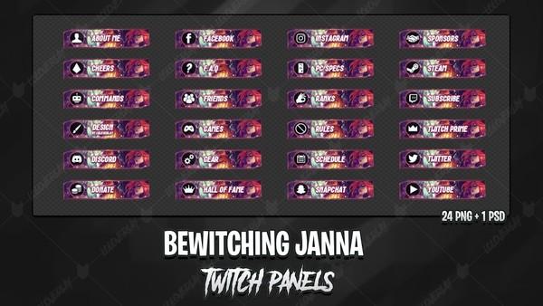✅ BEWITCHING JANNA - TWITCH PANELS