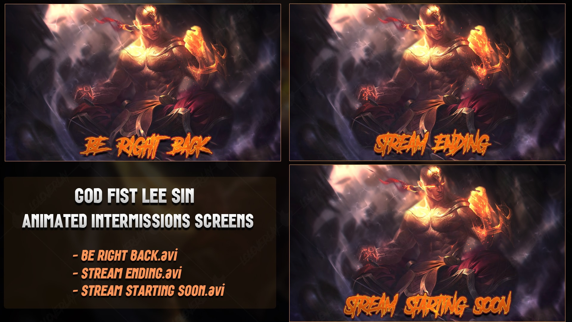 Animated God Fist Lee Sin Intermissions Screen Loloverlay