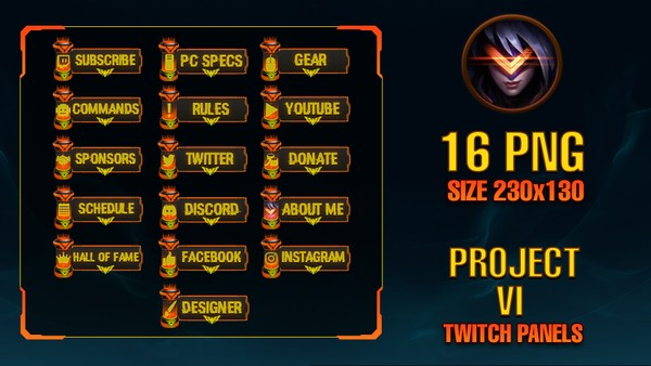 ✅PROJECT VI - TWITCH PANELS