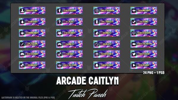 ❤️ ARCADE CAITLYN - TWITCH PANELS