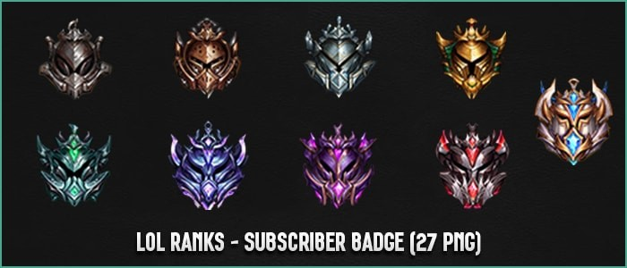 ✅ LOL RANKS - SUBSCRIBER BADGES