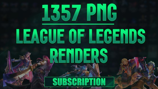 🔥🔂LEAGUE OF LEGENDS RENDERS PACK [1357 PNG]