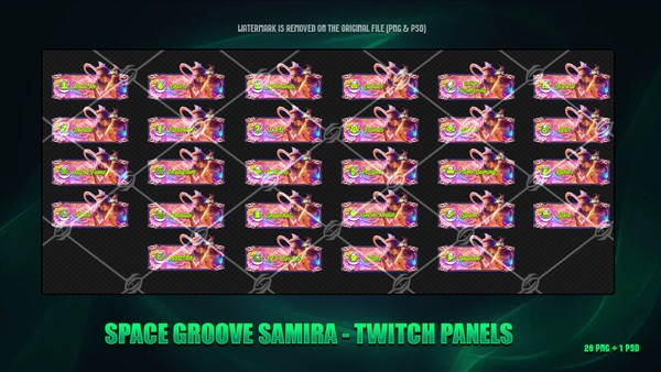 🌠SPACE GROOVE SAMIRA - TWITCH PANELS