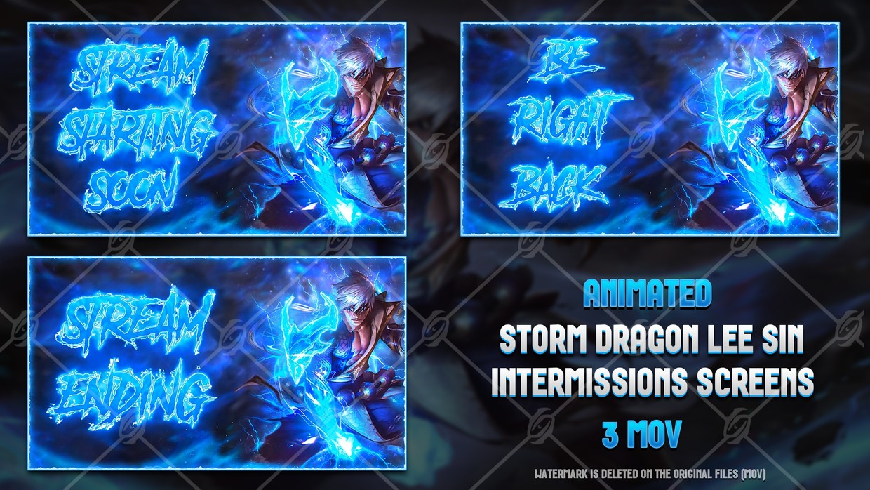 🐉🎞️ STORM DRAGON LEE SIN - ANIMATED INTERMISSIONS SCREENS