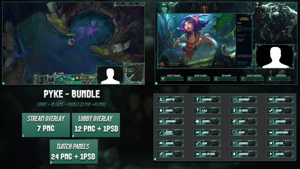 🔥 PYKE - BUNDLE [43 PNG + 2 PSD]