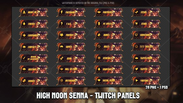 💥HIGH NOON SENNA - TWITCH PANELS