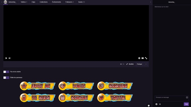 DRAGONBALL FIGHTERZ- TWITCH PANELS