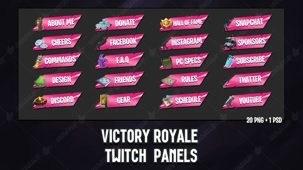 ✅ [PINK]  VICTORY ROYALE 2018 - TWITCH PANELS