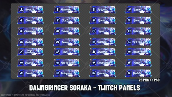 ✅ DAWNBRINGER SORAKA - TWITCH PANELS