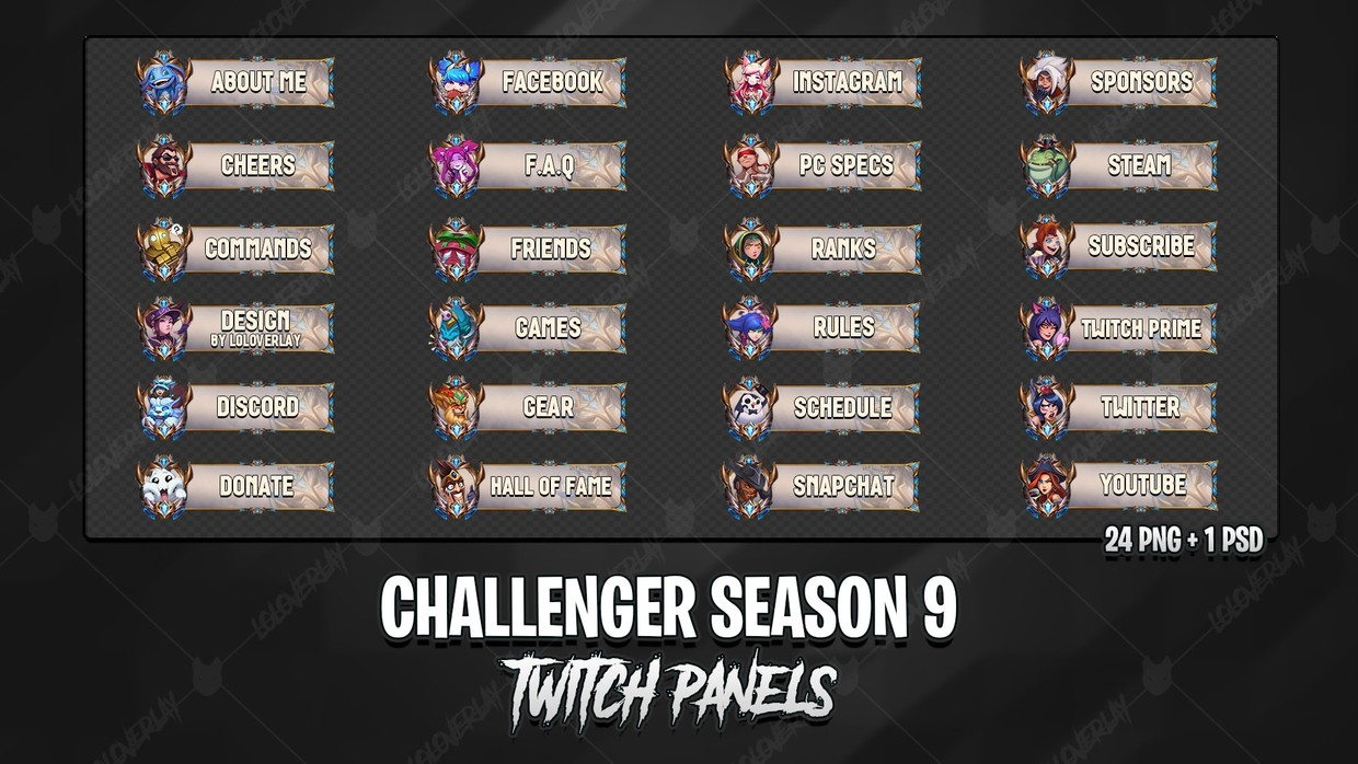 ✅ CHALLENGER SEASON 9 - TWITCH PANELS
