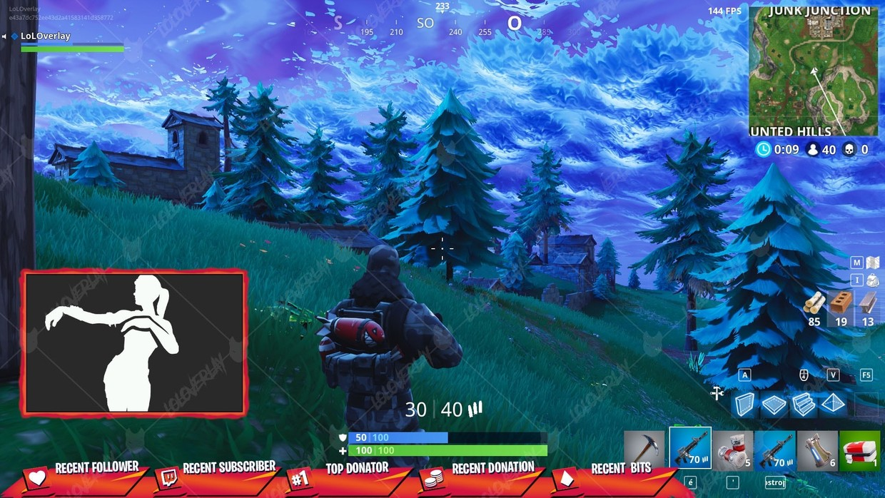 ✅ [ORANGE x RED] VICTORY ROYALE 2018  - STREAM OVERLAY