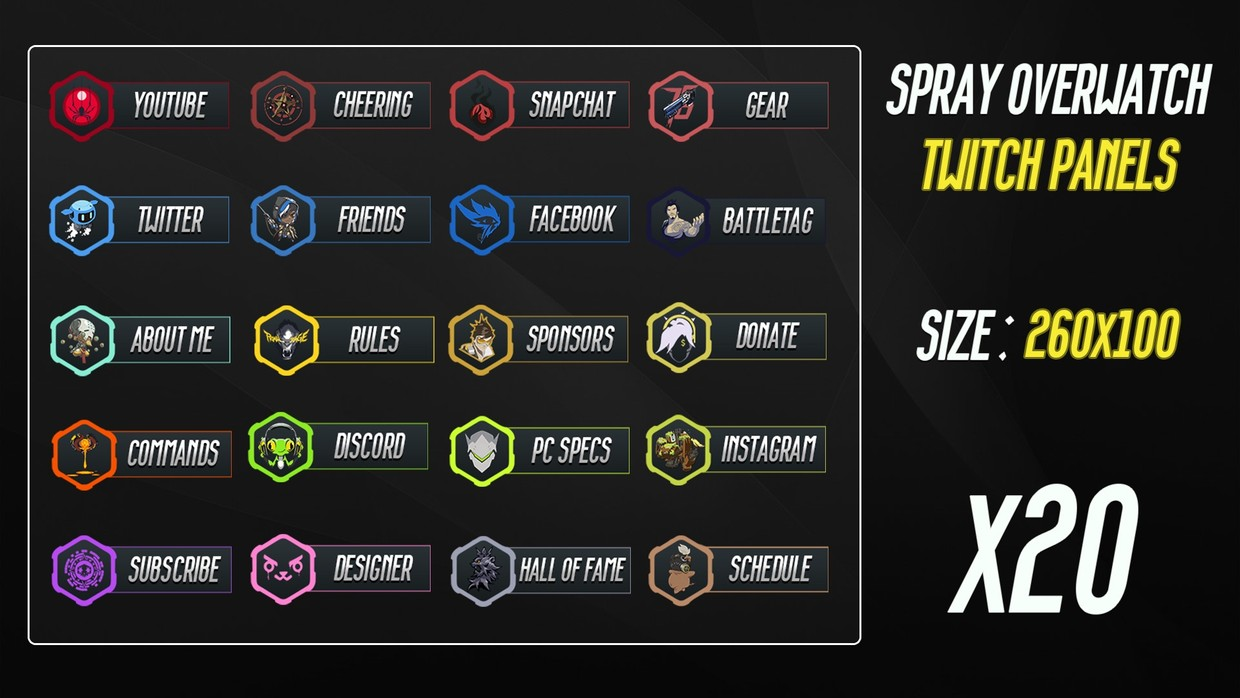 OVERWATCH SPRAY - TWITCH PANELS