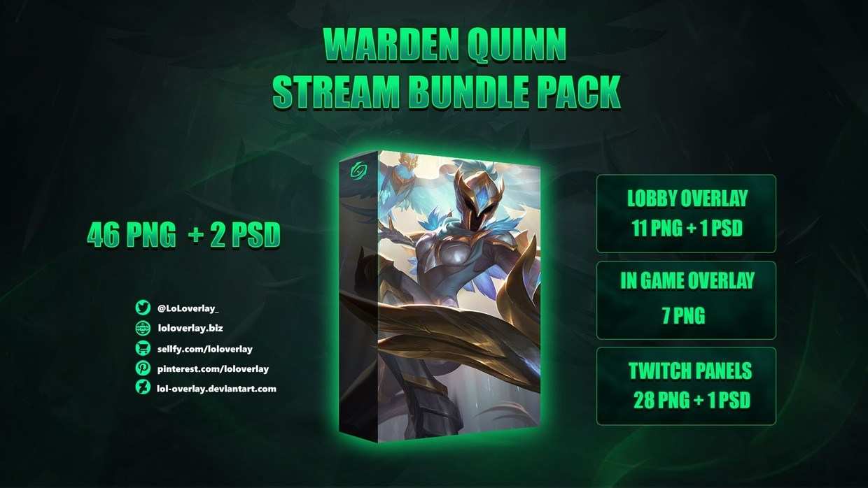 ⚔️WARDEN QUINN - STREAM BUNDLE [46 PNG + 2 PSD]