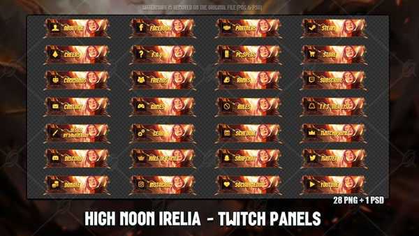💥HIGH NOON IRELIA - TWITCH PANELS