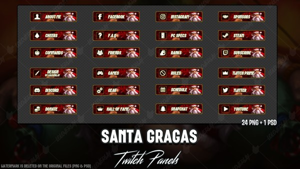 ✅SANTA GRAGAS - TWITCH PANELS