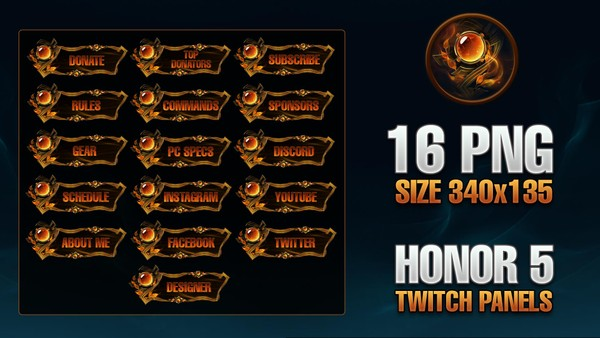 HONOR 5 - TWITCH PANELS